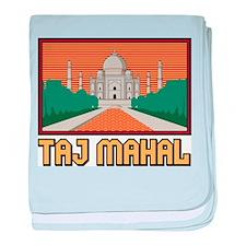 Taj Mahal baby blanket