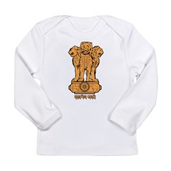 India Coat Of Arms Long Sleeve Infant T-Shirt