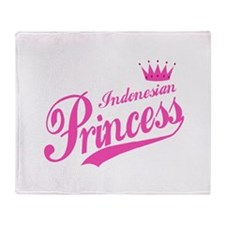 Indonesian Princess Throw Blanket
