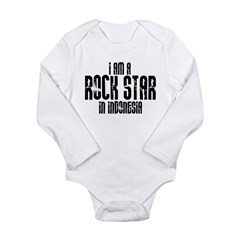 Rock Star In Indonesia Long Sleeve Infant Bodysuit