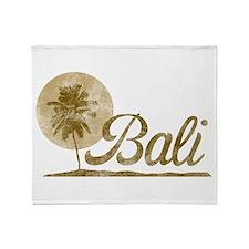 Palm Tree Bali Throw Blanket