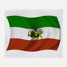 Wavy Pahlavi Dynasty Flag Throw Blanket