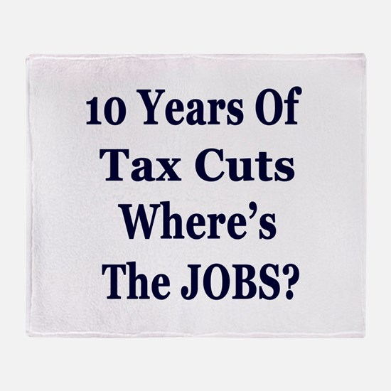 Where's the Jobs?? Throw Blanket