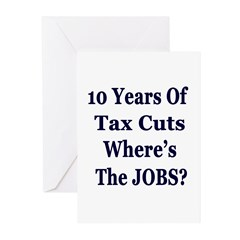 Where's the Jobs?? Greeting Cards (Pk of 10)