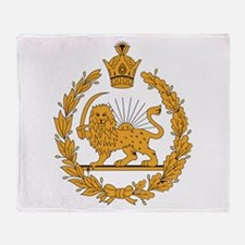 Persia Coat Of Arms Throw Blanket