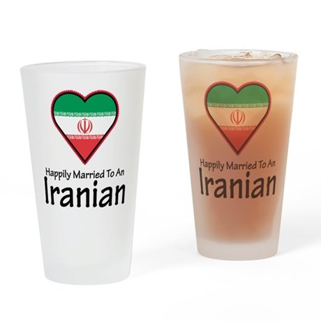 Happily Married Iranian Pint Glass