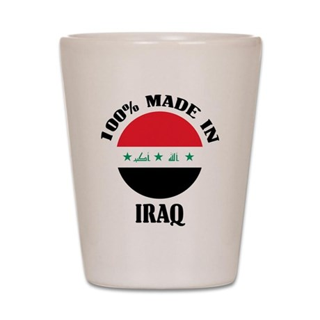Made In Iraq Shot Glass