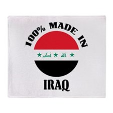 Made In Iraq Throw Blanket