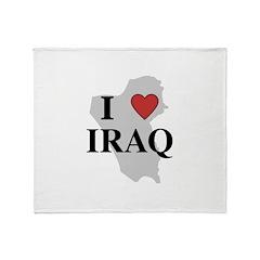 I Love Iraq Throw Blanket