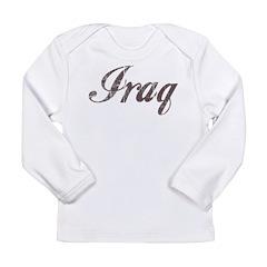 Vintage Iraq Long Sleeve Infant T-Shirt