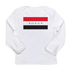 Iraq Flag Long Sleeve Infant T-Shirt