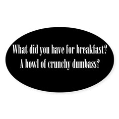 Breakfast Oval Decal