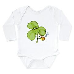 Funny Clover Long Sleeve Infant Bodysuit