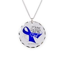 Dad Colon Cancer Awareness Necklace Circle Charm