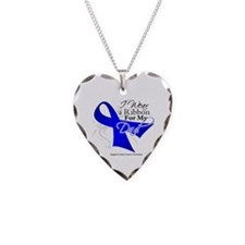 Dad Colon Cancer Awareness Necklace Heart Charm
