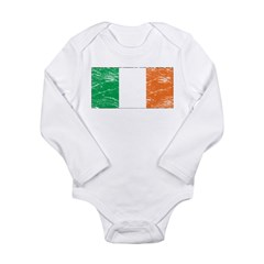 Vintage Ireland Flag Long Sleeve Infant Bodysuit