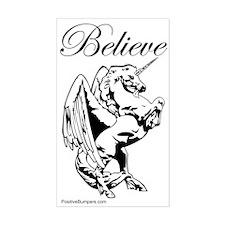 Believe - unicorn/pegasus Rectangle Decal