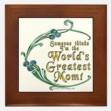 World's Greatest Mom! Framed Tile