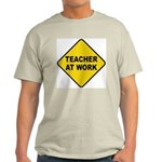 Teacher At Work Ash Grey T-Shirt