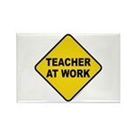 Teacher At Work Rectangle Magnet (10 pack)