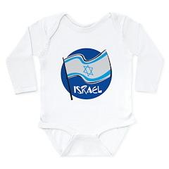 Israel Flag Long Sleeve Infant Bodysuit