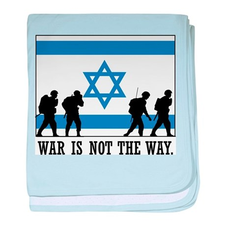 Anti War Israel baby blanket