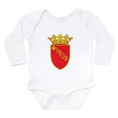 Rome Coat Of Arms Long Sleeve Infant Bodysuit