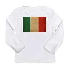 Vintage Italy Flag Long Sleeve Infant T-Shirt