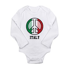 Peace In Italy Long Sleeve Infant Bodysuit