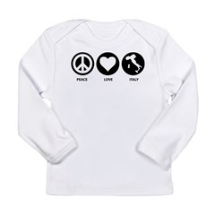 Peace Love Italy Long Sleeve Infant T-Shirt