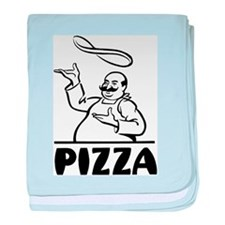Retro Pizza baby blanket
