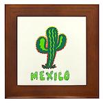 Mexico Cactus Framed Tile