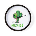 Mexico Cactus Wall Clock