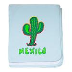 Mexico Cactus baby blanket
