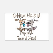Goat Kidding Season Car Magnet 12 x 20