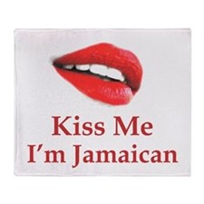 Kiss Jamaican Throw Blanket