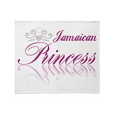 Jamaican Princess Throw Blanket