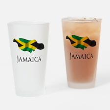 Map Of Jamaica Pint Glass