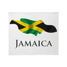Map Of Jamaica Throw Blanket