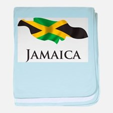 Map Of Jamaica baby blanket