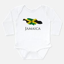 Map Of Jamaica Long Sleeve Infant Bodysuit