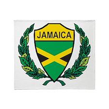 Stylized Jamaica Throw Blanket