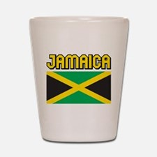 Jamaica Flag Shot Glass