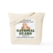 National Guard Husband Tote Bag