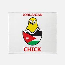 Jordanian Chick Throw Blanket