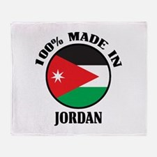 Made In Jordan Throw Blanket