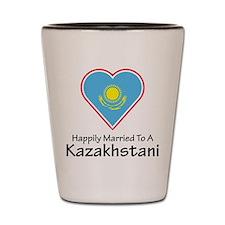Happily Married Kazakhstan Shot Glass