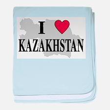 I Love Kazakhstan baby blanket