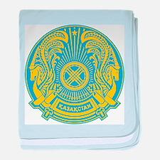 Kazakhstan Coat Of Arms baby blanket