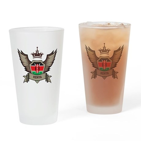Kenya Emblem Pint Glass